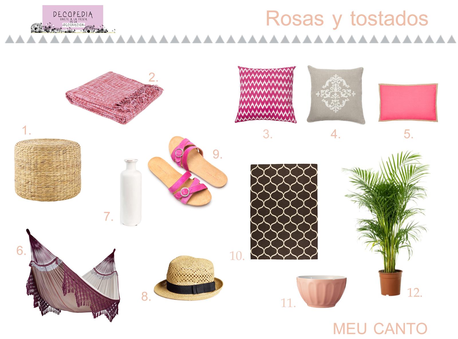 Mobiliario rosa para terrazas