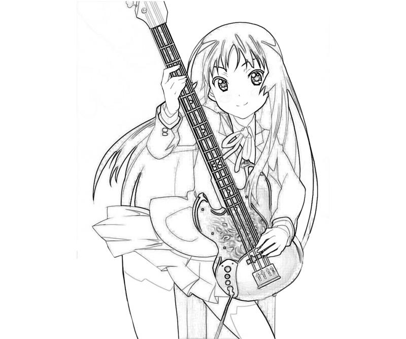 k-on-after-school-live-mio-akiyama-happy-coloring-pages