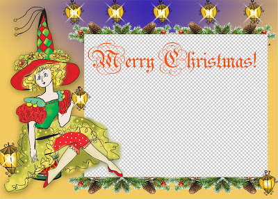 Christmas Card PNG Template
