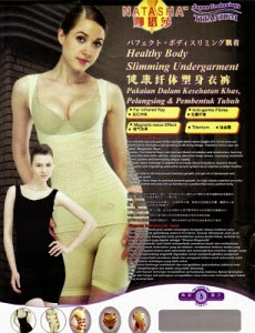 Beli Baju Pelangsing Tubuh Natasha Kozui Slimming Suit Asli Murah Tanpa Efek Samping