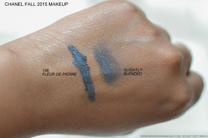 Chanel Les Automnales Fall 2015 Makeup Collection - Illusion DOmbre - 106 Fleur De Pierre - Swatches