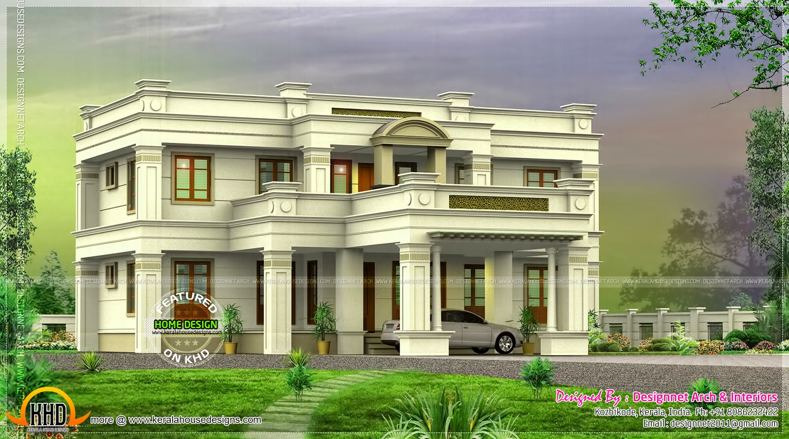 July 2014 kerala home design and floor plans for Mansion designer