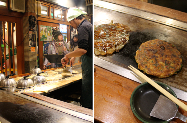 Japan food diary, things to eat in Japan, okonomiyaki, Kyoto