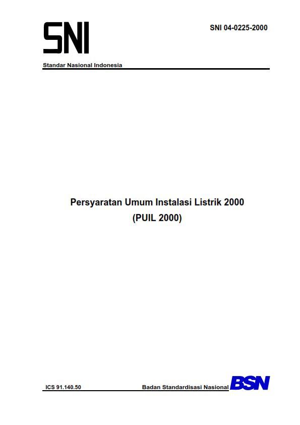 Persyaratan Umum Instalasi Listrik 2000