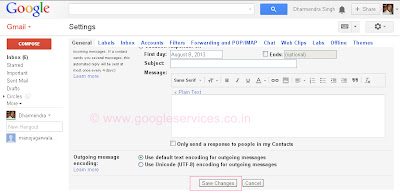 hindi font in gmail