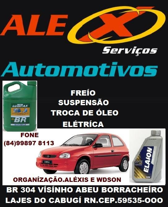 ALEXIS SERVÍÇOS AUTOMOTIVOS LAJES RN.