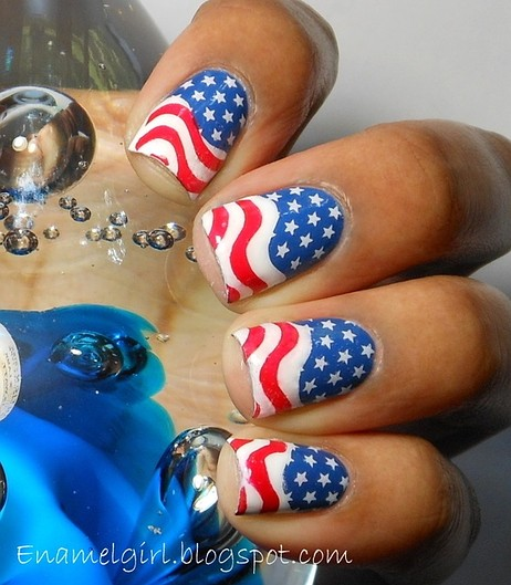 4th of july nail ideas 4th of july nails american flag design 4th of july nails american flag design prinsesfo Images