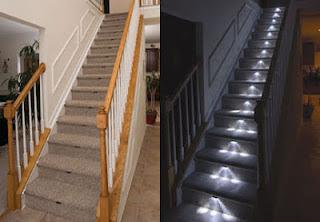 iluminar una escalera