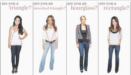 Skinny jeans for inverted triangle body shape