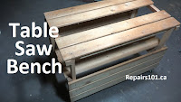 wooden homemade table saw bench