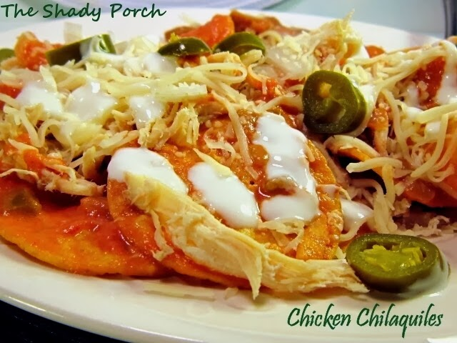 Chicken Chilaquiles #chicken #nachos #easy #crockpot #dinner