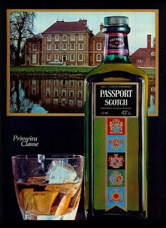 propaganda whisky Passport - 1976. década de 70. os anos 70; propaganda na década de 70; Brazil in the 70s, história anos 70; Oswaldo Hernandez;
