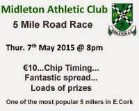 Midleton 5 mile in Cork...Thurs 7th May