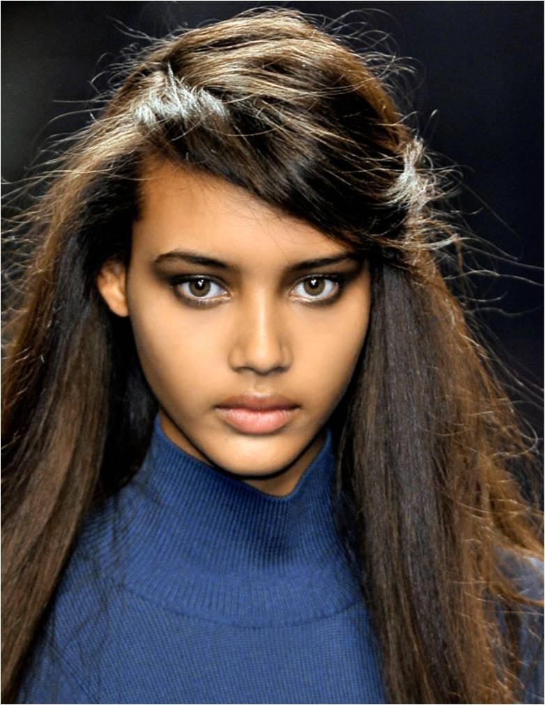 Le maquillage des yeux noirs couleur marron et noisette cosm tiques etc - Yeux marron fonce ...