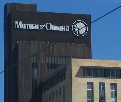 Mutual of Omaha headquarters and sign