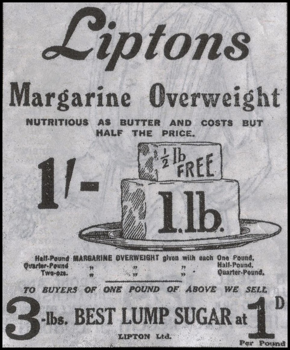 1914 advert for margarine