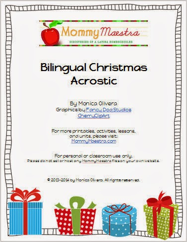 Mommy maestra 2013 for my final post of the year i wanted to share a free and simple activity to develop your childs vocabulary and spelling skills fandeluxe Gallery
