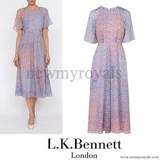 Kate Middleton wore LK BENNETT Madison Chiffon Print Dress