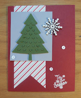 Christmas Card made with Stampin'UP!'s Perfect Pines Thinlit Dies