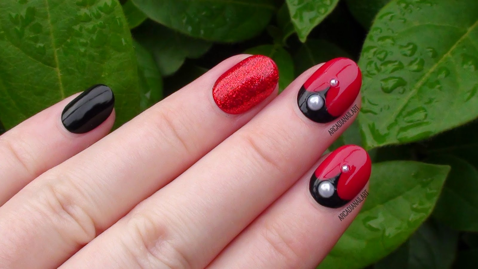 Vampire Halloween Nails by ArcadiaNailArt