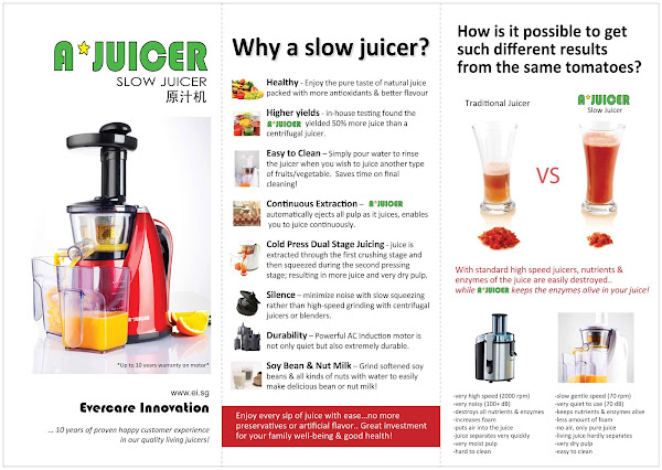 Are you sourcing for a reliable Slow Juicer or High power Blender ? Contact Vinitha @ 92368402