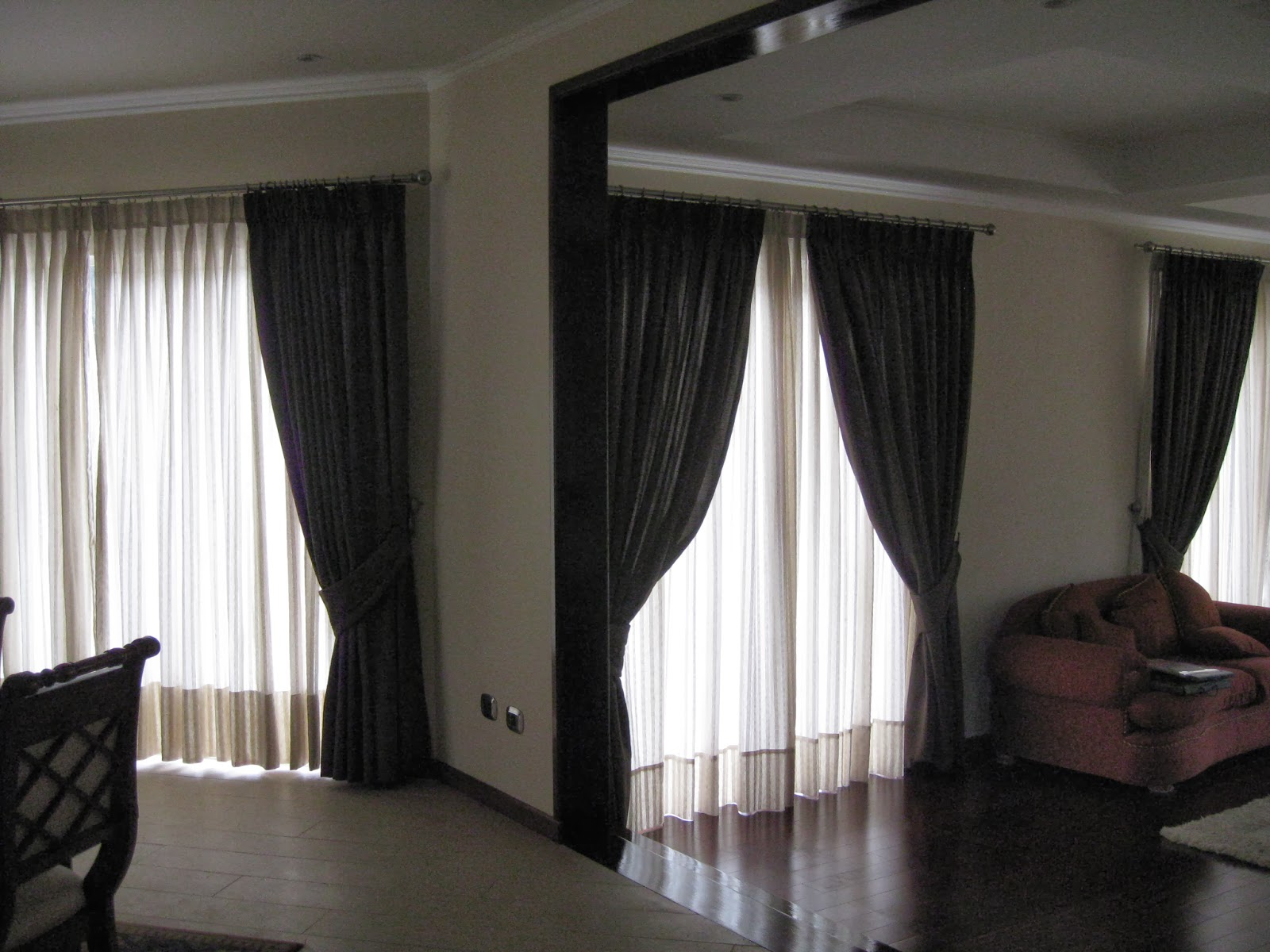 Cortina comedor cortina comedor cortinas para comedor for Cortinas de living