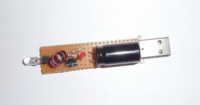 LED Flashlight Use Supercapacitor