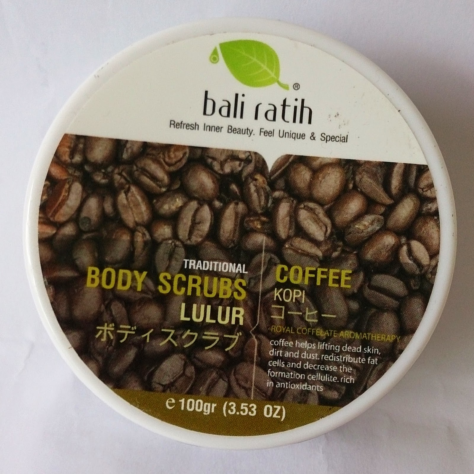 Amalina Skin Food Bali Ratih Body Scrubs Lotion Coffee And Cocoa Bean Are Rich In Antioxidant Very Effective To Prevent The Build Up Cellulite