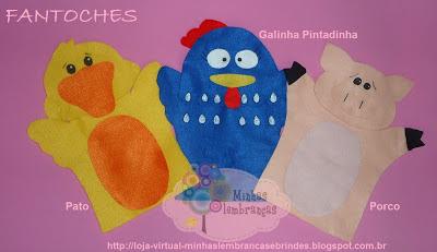 fantoches-feltro-bichos-animais-pato-galinha-pintadinha-porco-lembrancinha-pedagógico-infantil