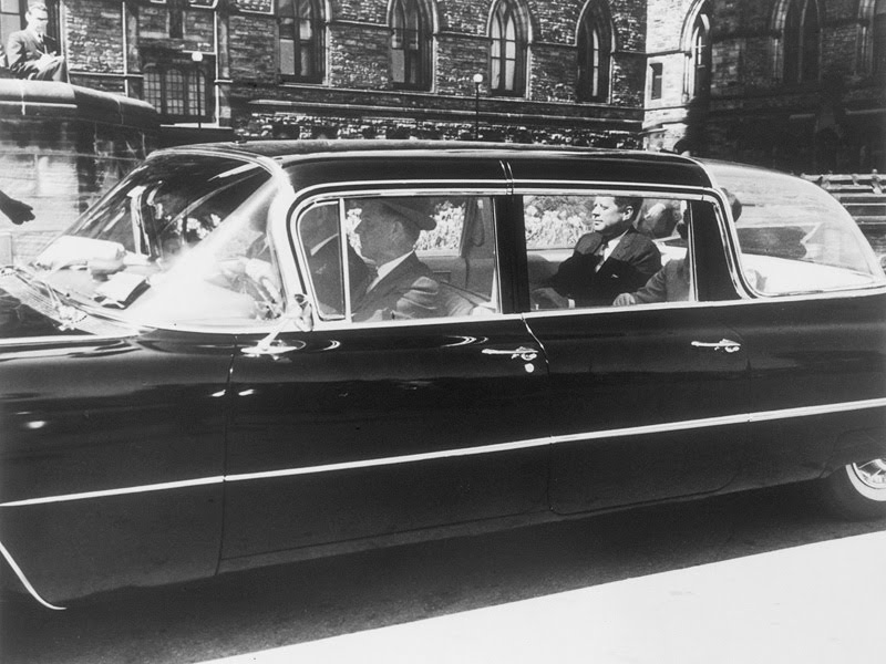 JFK IN A DIFFERENT BUBBLETOP TYPE LIMO