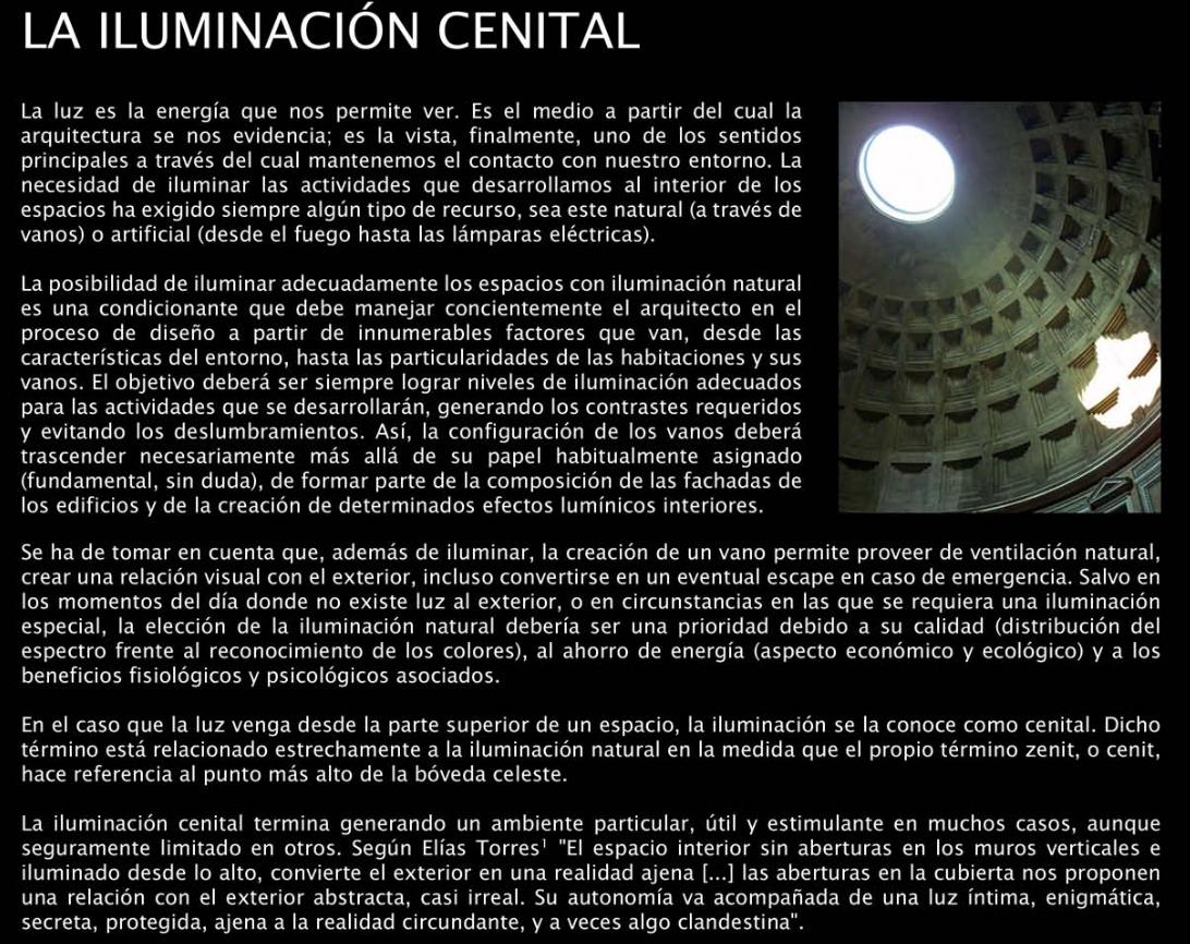 APUNTES - REVISTA DIGITAL DE ARQUITECTURA: LA ILUMINACION ... - photo#31