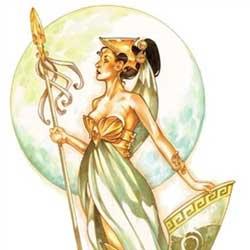 diosa griega dibujo