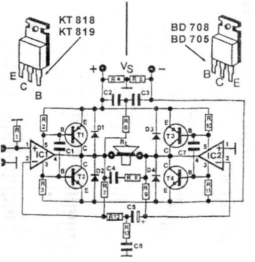 200W Audio Amplifier Circuit Diagram