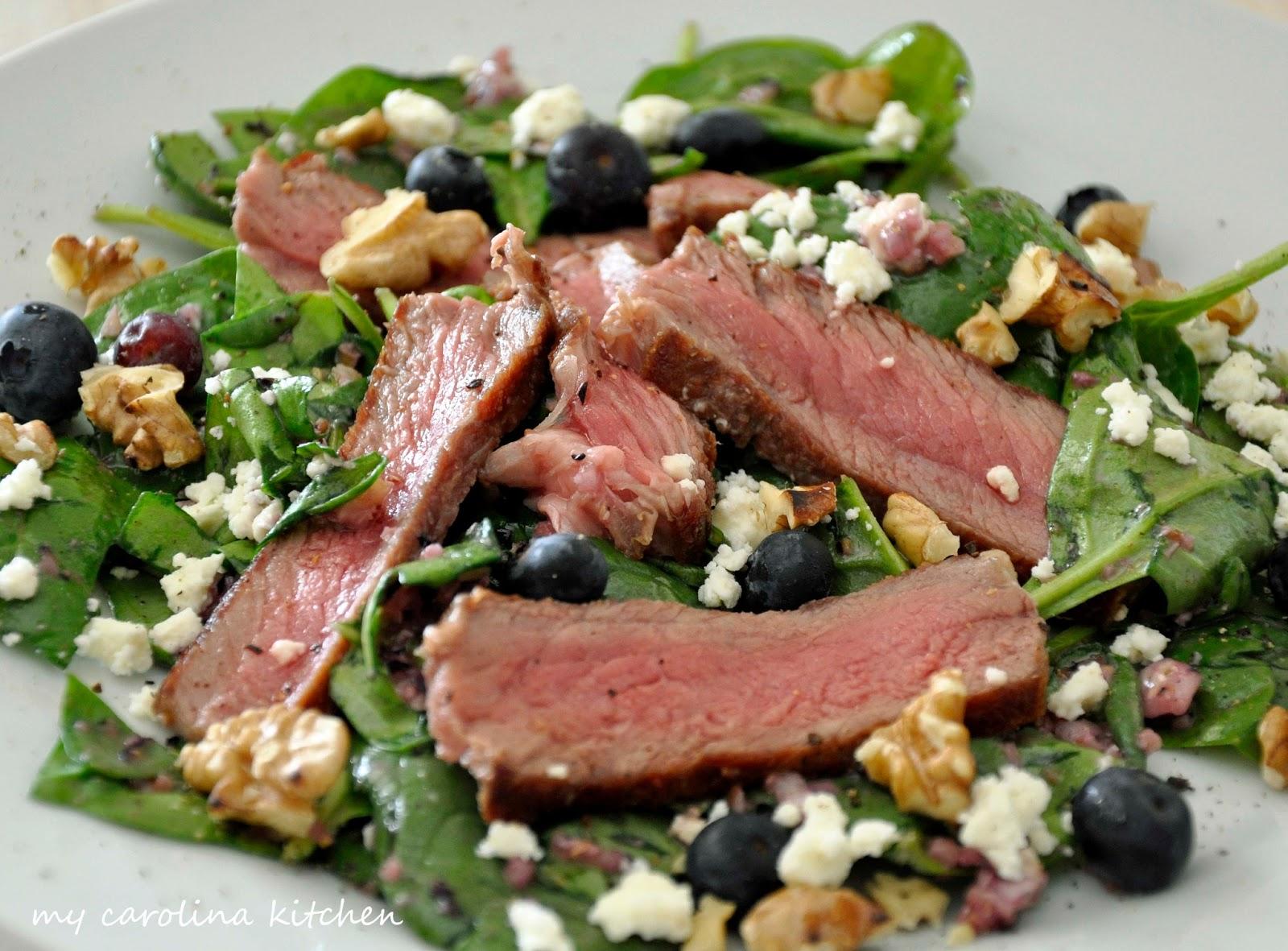 steak and spinach salad recipe