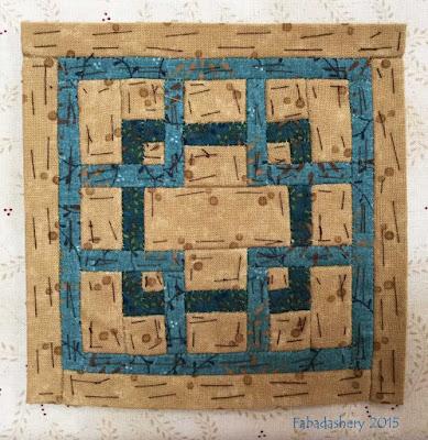 Dear Jane Quilt - Block L6 Maze of Madness