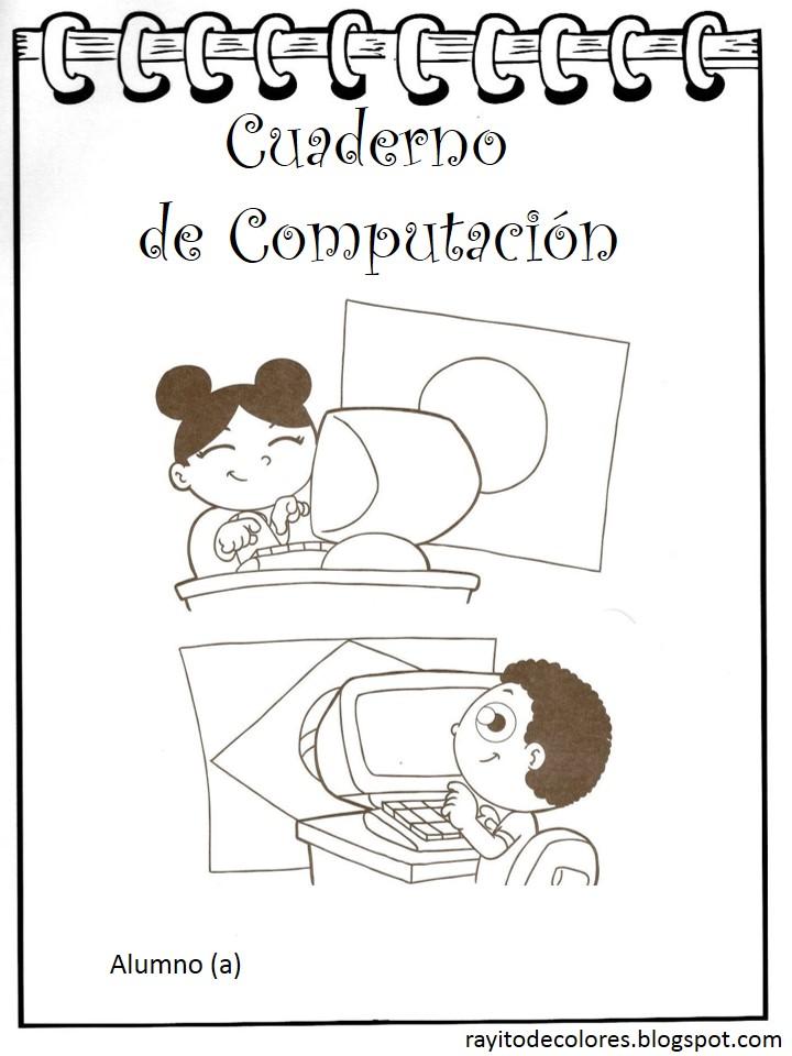 carátula escolar para computación