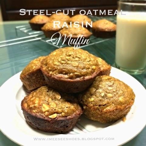 steel-cut, oatmeal, muffin