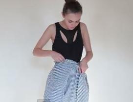 como  hacer un vestido con una camisa de hombre