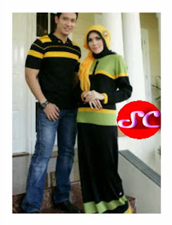 grosir gamis rajut model bee couple