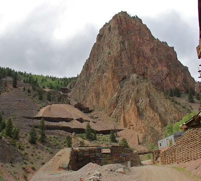 Commadore Mine on the Bachelor Loop near Creede Colorado is just one of the many scenic ruins in the area.