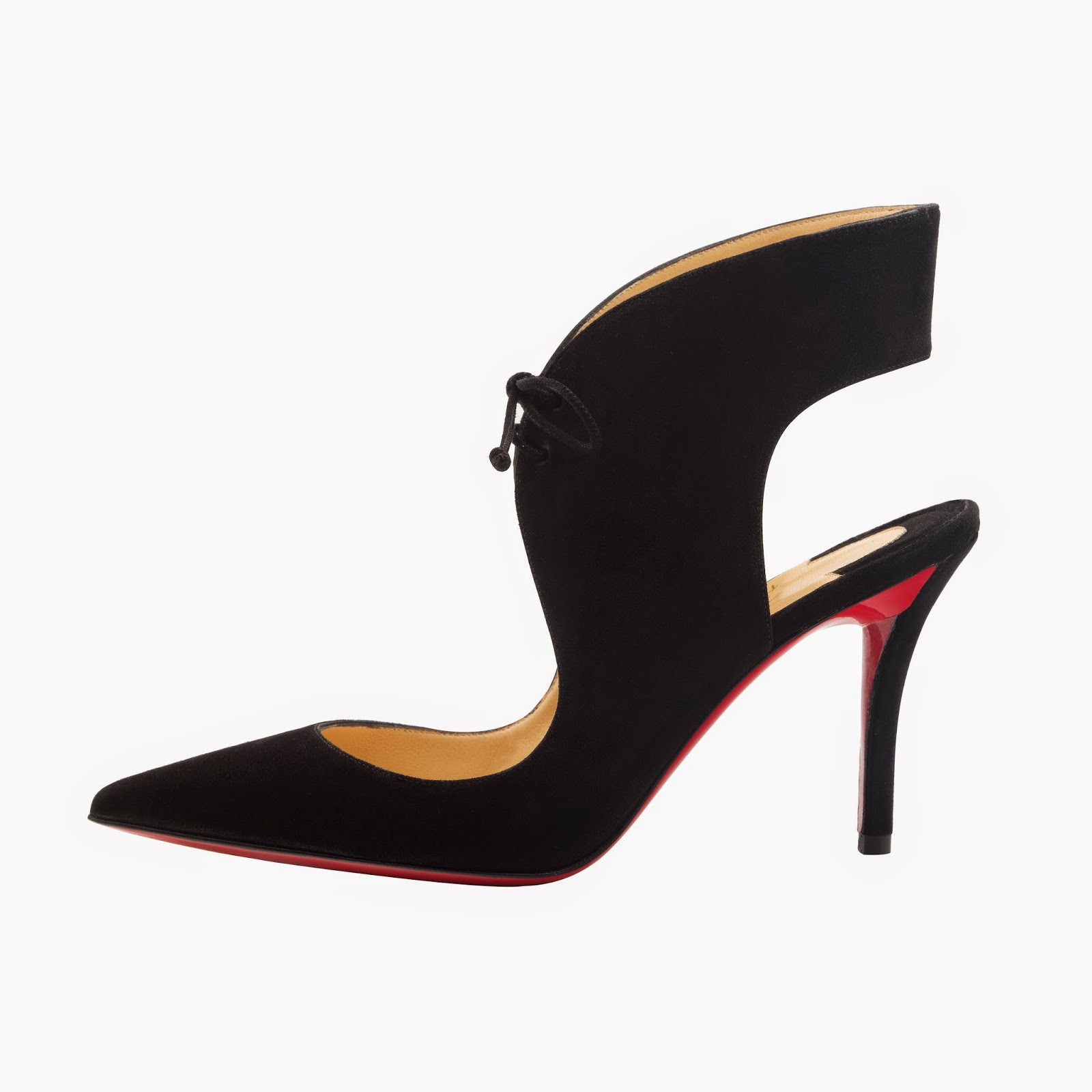 Christian Louboutin Franca 85 Suede Black