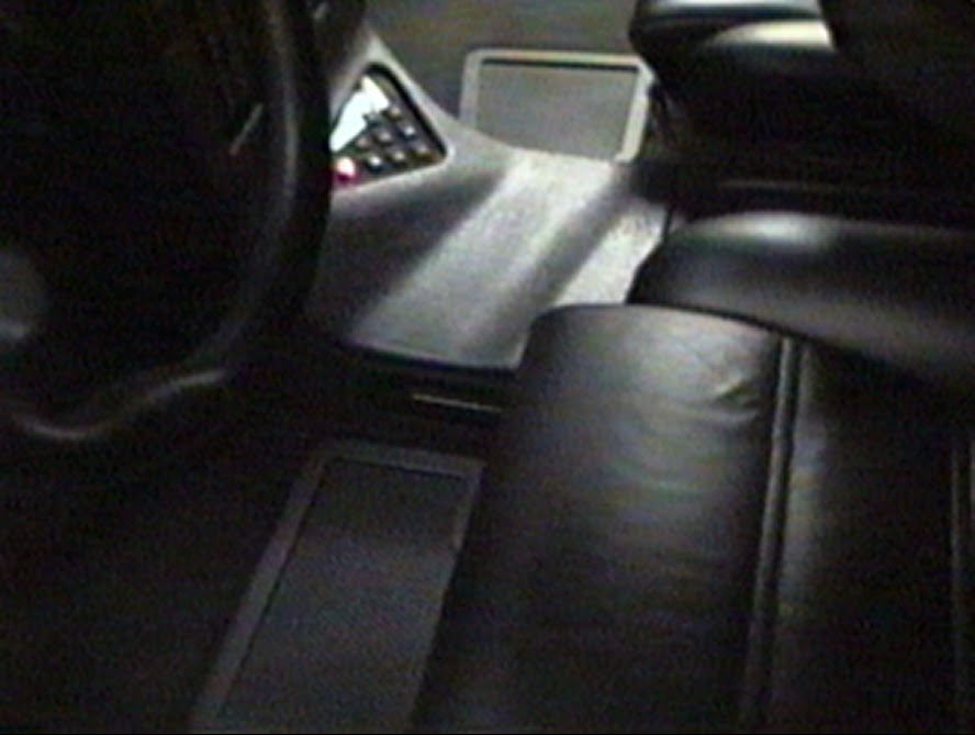 Photo image of center console inside the sound-off champion van built by Paul Richardson and Alberto A Lopez in 1996