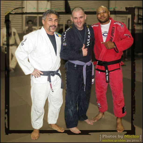Michio Grubbs and Charlie Grant with hard working Dan Hoopes Oceanside BJJ