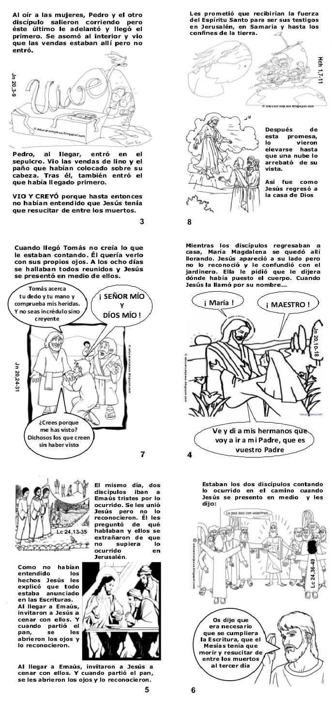 La Catequesis (El blog de Sandra): Cómic Libro de Pascua para niños ...