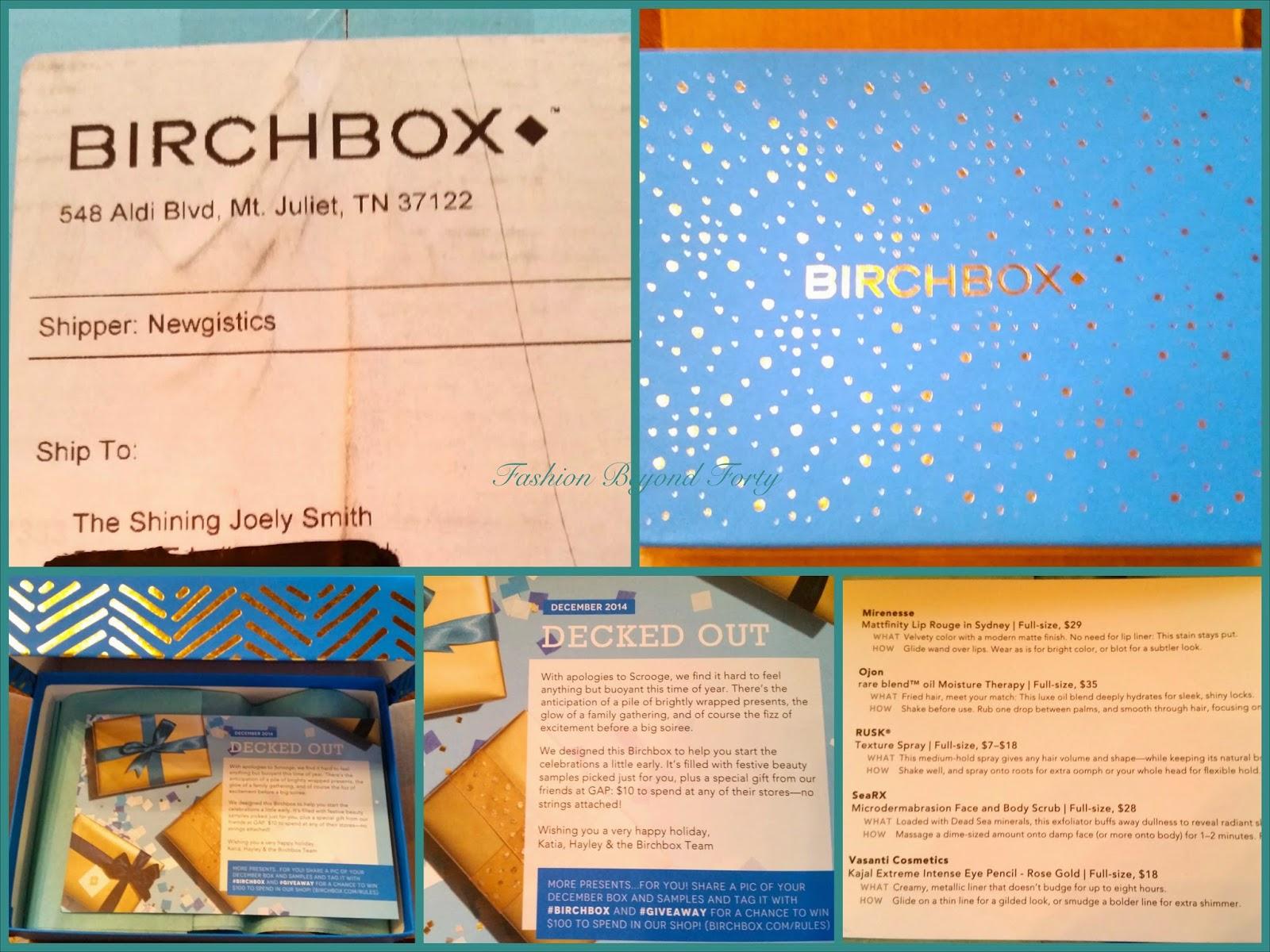 Birchbox Review December 2014 Fashion Beyond Forty