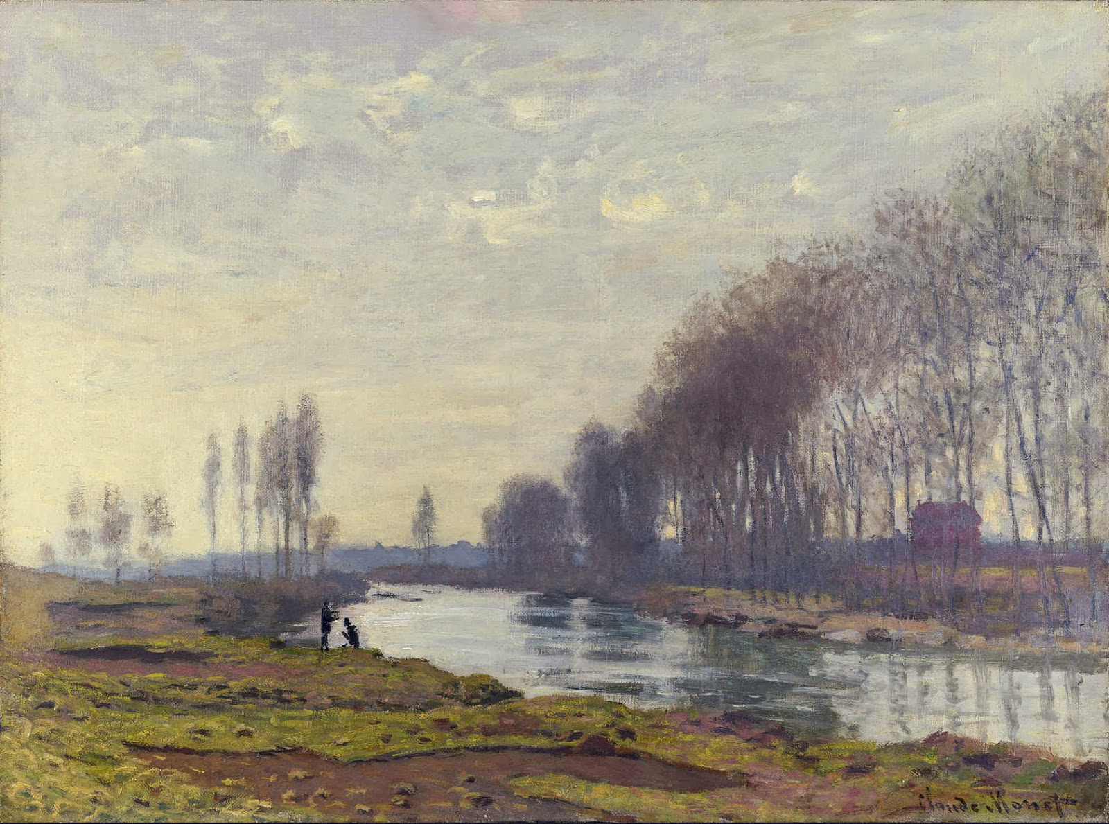 art artists claude monet part  claude monet 1872 the small arm of the seine at argenteuil oil on canvas 52 6 x 71 8 cm the national gallery london