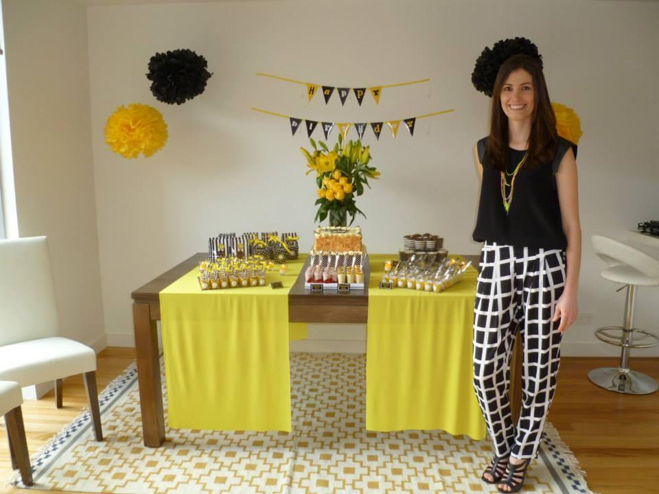 decoracao amarelo branco e preto: pela luiza o amarelo e a dobradinha da moda o preto e branco