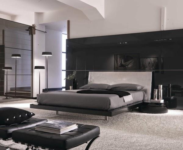 Dormitorios modernos en blanco y negro dormitorios for Cuarto negro con blanco