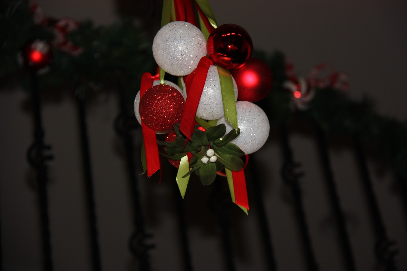 Enjoy Lots Of Smooches Under Your Gorgeous Mistletoe And Ornament  Chandelier