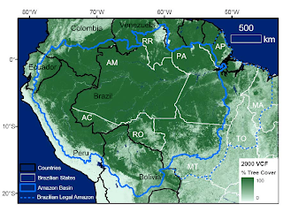 South America - Amazon - World's largest tropical rainforest and river basin